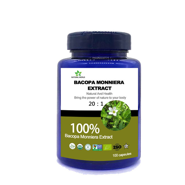 Bacopa Monnieri Extract (20:1): 100 Capsules