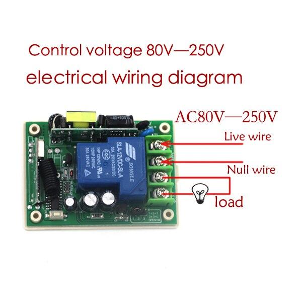 Aliexpress  Buy AC85V 250V 1CH 30A Remote Control Switch Relay
