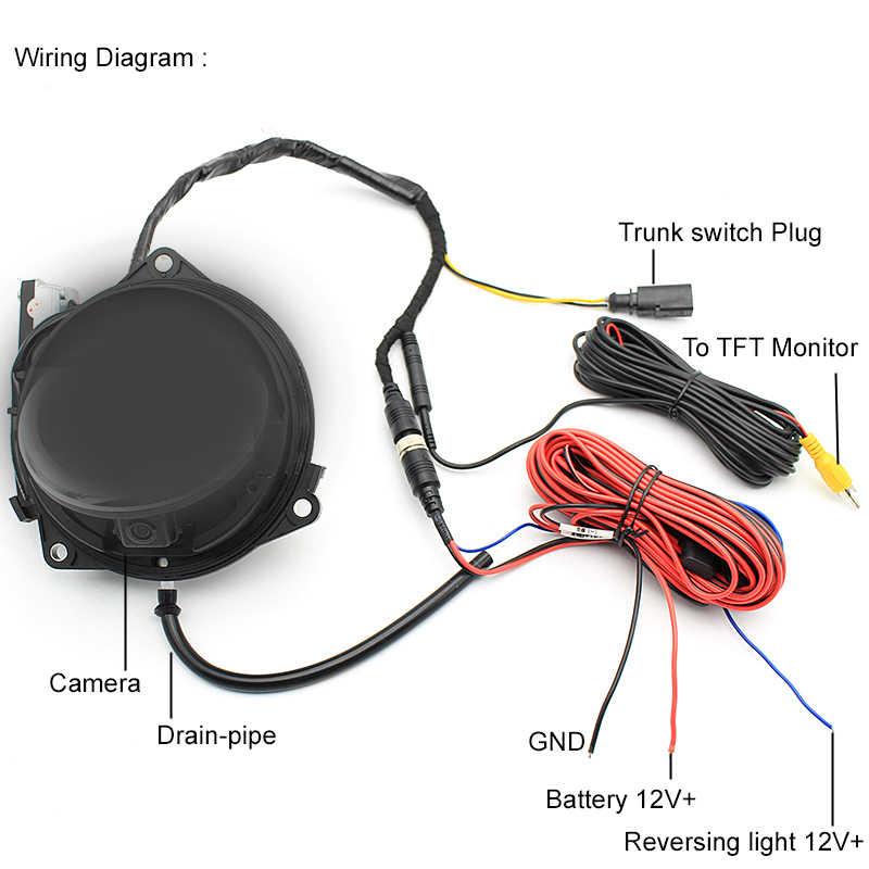 автомобиль Smart флип багажник ручка заднего вида камера обратный резервный камера