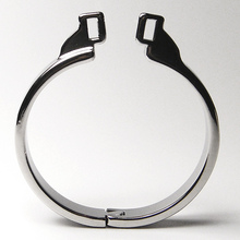 1 piece Stainless Steel Penis Rings Male Chastity Device Square Pin Metal Cock Ring Penis Sleeve Lock Adult Sex Toys for men