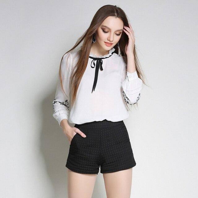 c5652b60961a € 24.8  Plus mujeres de gran tamaño 4xl 5xl blusa bordado boho clothing  blanco blusas de manga larga tops blusas feminina verano 2017 sy884 en ...