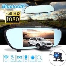 "Cheaper KROAK 7"" 1080P 3G Car DVR GPS Android 5.0 Dual Lens Rearview Mirror Camera Video Recorder Bluetooth"