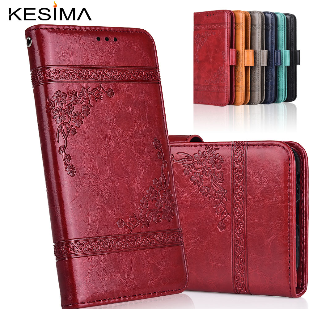 Vintage Wallet Leather <font><b>Case</b></font> <font><b>for</b></font> <font><b>Huawei</b></font> <font><b>Y6</b></font> <font><b>Prime</b></font> <font><b>2018</b></font> ATU-L31 ATU-L42 5.7'' <font><b>Case</b></font> with Card Bag Kickstand soft TPU <font><b>Cover</b></font> image