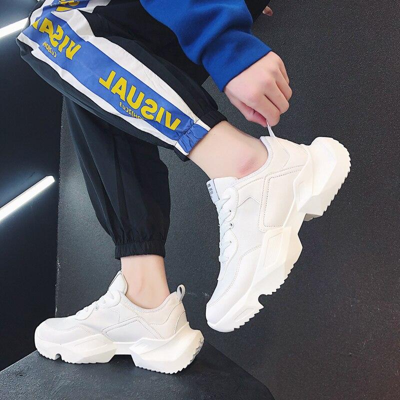 Leader Show hommes baskets respirant en caoutchouc tendance homme chaussures printemps Sport chaussures Zapatos Hombre chaussures de course pour hommes lumière - 2