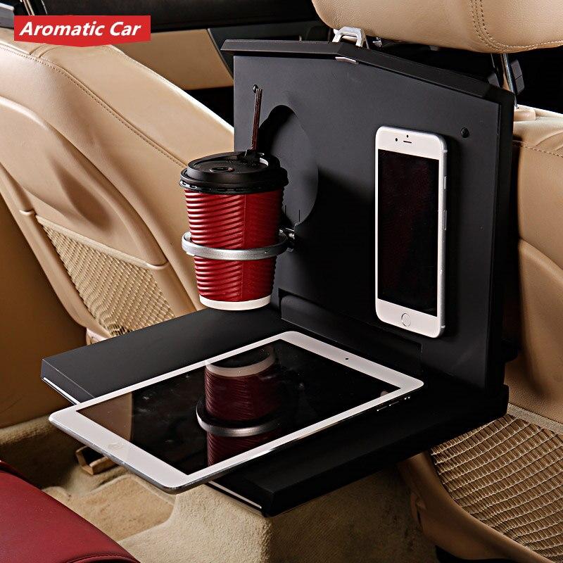 Universel siège de voiture arrière plateau de nourriture pliant Auto Table à manger boisson tasse d'eau support de téléphone multifonction voiture palette étagère