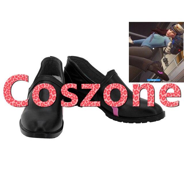 OW DVA Polis Cilt Cosplay Ayakkabı Çizme Cadılar Bayramı Parti Cosplay kostüm aksesuarı