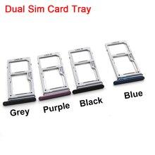 10 Pcs/lot Dorigine Micro SD Carte Plateau avec Double Nano Sim Titulaire de la Carte Slot pour Samsung Galaxy S9 G960 S9 plus G965 Remplacement