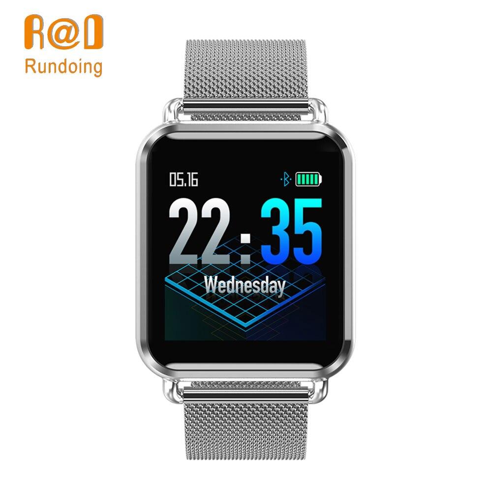 Rundoing Q3 Smart uhr Männer wasserdichte Dynamischen Blut Sauerstoff Druck Schrittzähler fitness tracker Herz Rate smartwatch