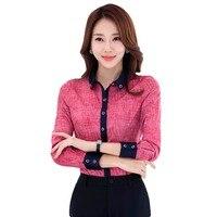 2017 Autumn Elegant Women S Shirt Full Sleeve Turn Down Collar Blouse OL Fashion Office Ladies
