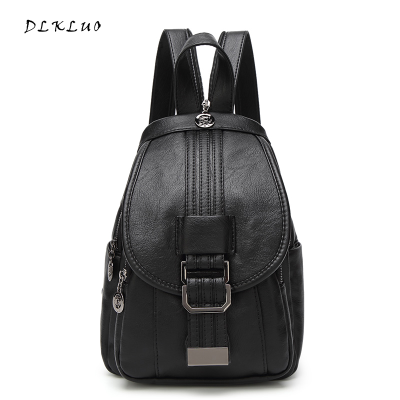 2017 new arrival fashion Genuine Leather women backpack fashion leisure soft ladies dual use bag chest