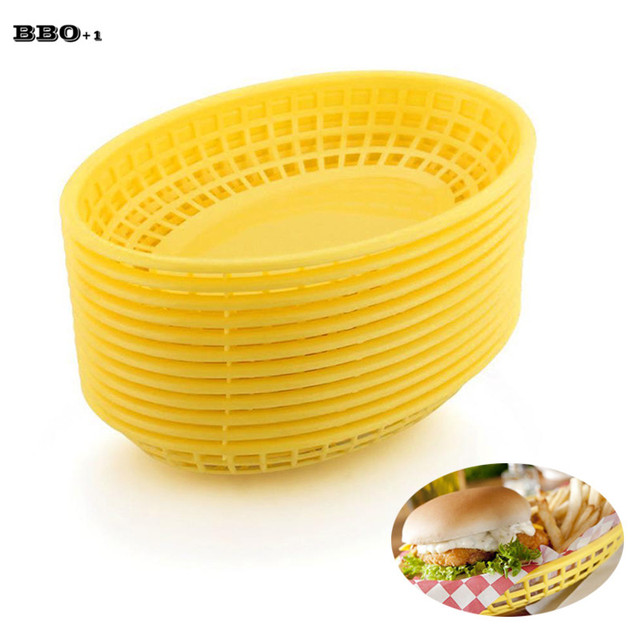 12pcs Oval Plastic Food Basket Hamburger Dinner Plates Set Fast Food Trays Restaurant BBQ Dinner Plate  sc 1 st  AliExpress.com & 12pcs Oval Plastic Food Basket Hamburger Dinner Plates Set Fast ...