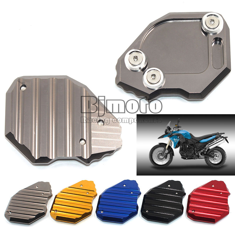 Motorcycle Kickstand CNC Aluminum Side Stand Plate Enlarger For BMW F800GS 2008-2015