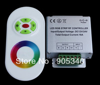 Wholesale 50pcs Lot Multi Function RF Touching RGB LED Controller 12 24V Control The Full Color