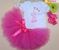Baby Girls Christmas Dress Newborn Toddler Bodysuit Bow Tutu Dresses Hair Band Three Pieces Sets High