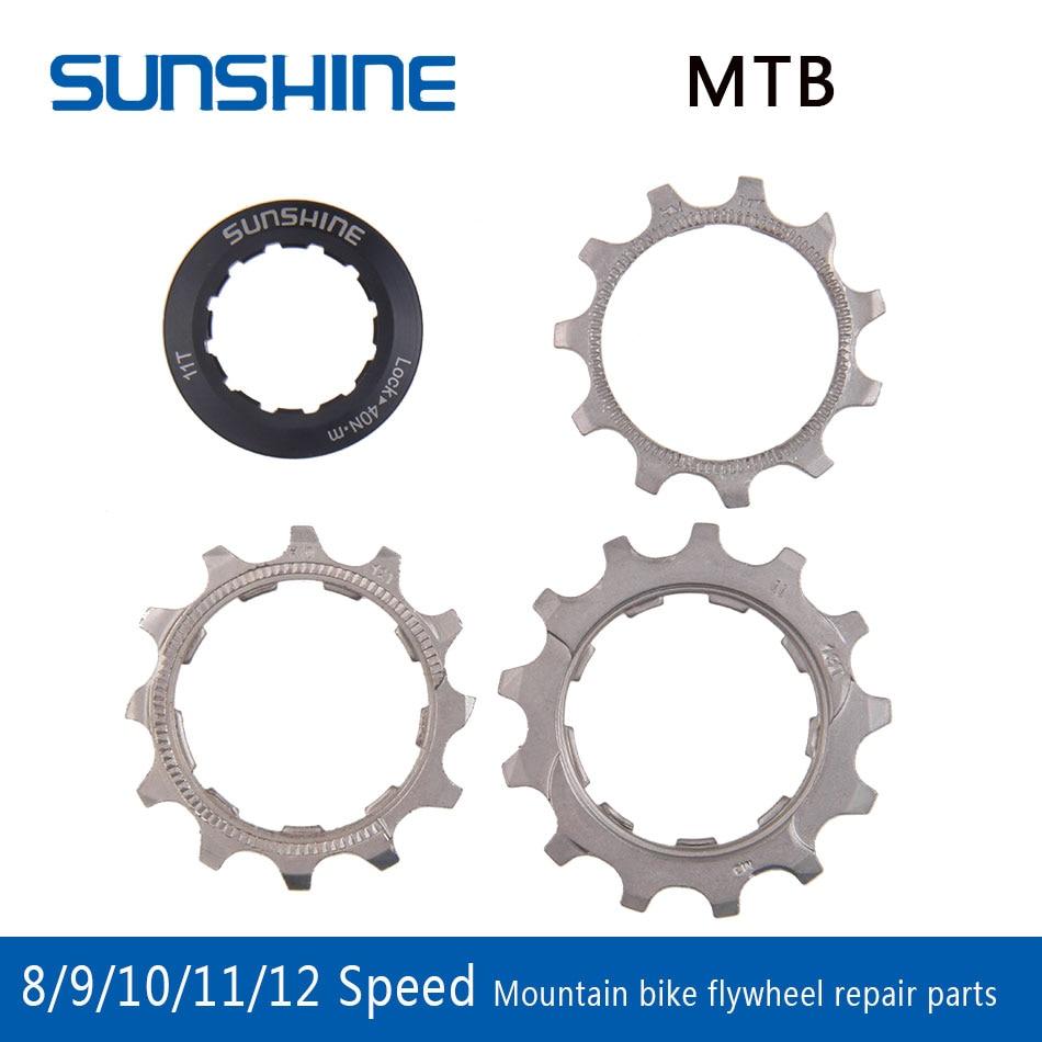 SUNSHINE 1pcs Bicycle Cassette Cog MTB Bike 8 9 10 11 12 Speed 11T 12T 13T Freewheel Parts For Compatible SHIMANO SRAM Cassette