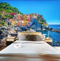 [Self Adhesive] 3D Italy Cinque Terre Sea View 22 Wall Paper mural Wall Print Decal Wall Murals