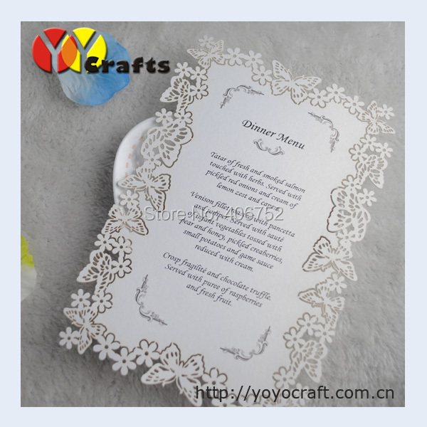 Unique Cute Wedding Cards Laser Cut Menu Dinner Card Butterfly Marriage Invitation Simple Design In Invitations From Home Garden On