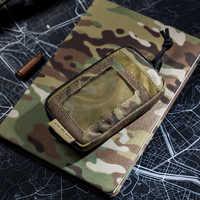 OneTigris Tactical fajna kieszonka edc przenośny klucz portmonetka na drobne portfele zestaw podróżny moneta Mini torebka i gniazda kart i wodoodporne zamki błyskawiczne