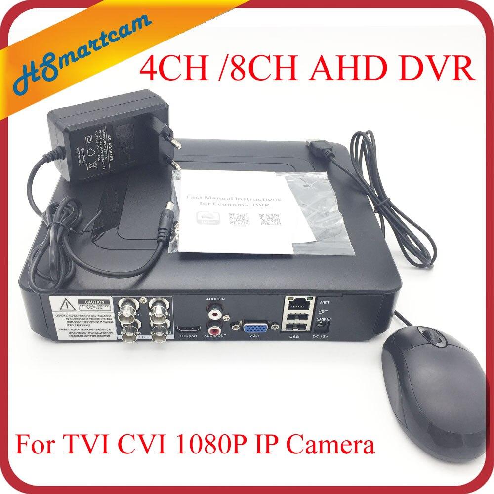 Новые мини DVR 4CH/8CH AHD 1080N 960 H xmeye P2P приложение коаксиальный 5 в 1 Гибридный коаксиальный 1080 P AHD TVI CVI камеры DVR системы видеонаблюдения
