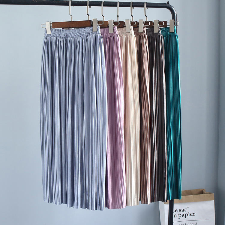 Large amount of good quality in the long section of pleated half skirt women 6063
