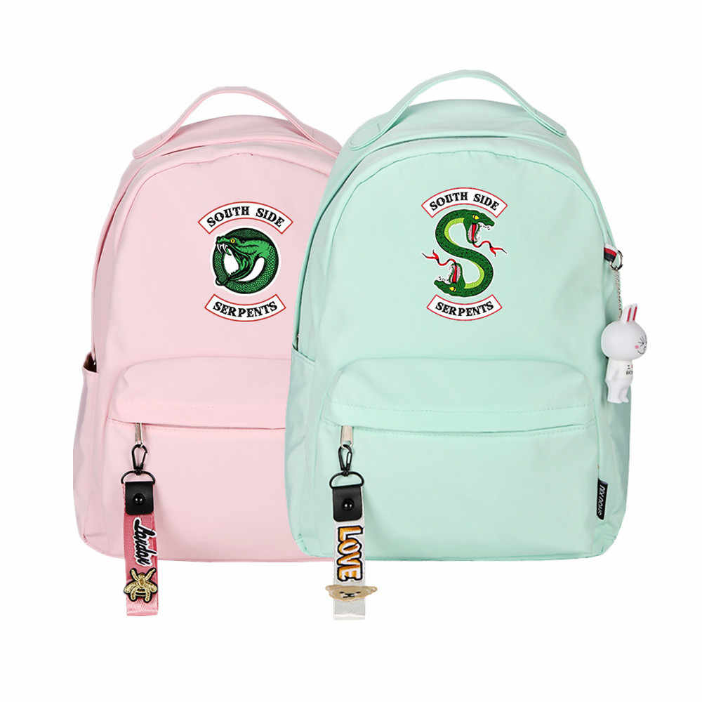 Riverdale Women Small Backpack Pink Bagpack Kawaii Travel Backpack Canvas School Bags for Teenage Girls Mochila Feminina Rugzak