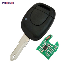 Black 1 Buttons Car Remote Key For Renault Smart Keyless Entry Fob With PCF7946 Chip 433MHZ No Logo недорого