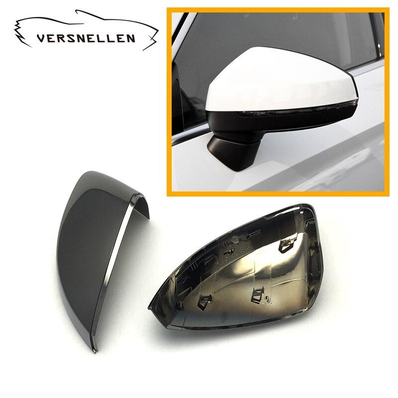 Высококачественные Полиуретановые защитный хромирование Черный ABS заднего крышка корпуса зеркала oem fitmen замены Audi A3 S3 8 V 2014 до