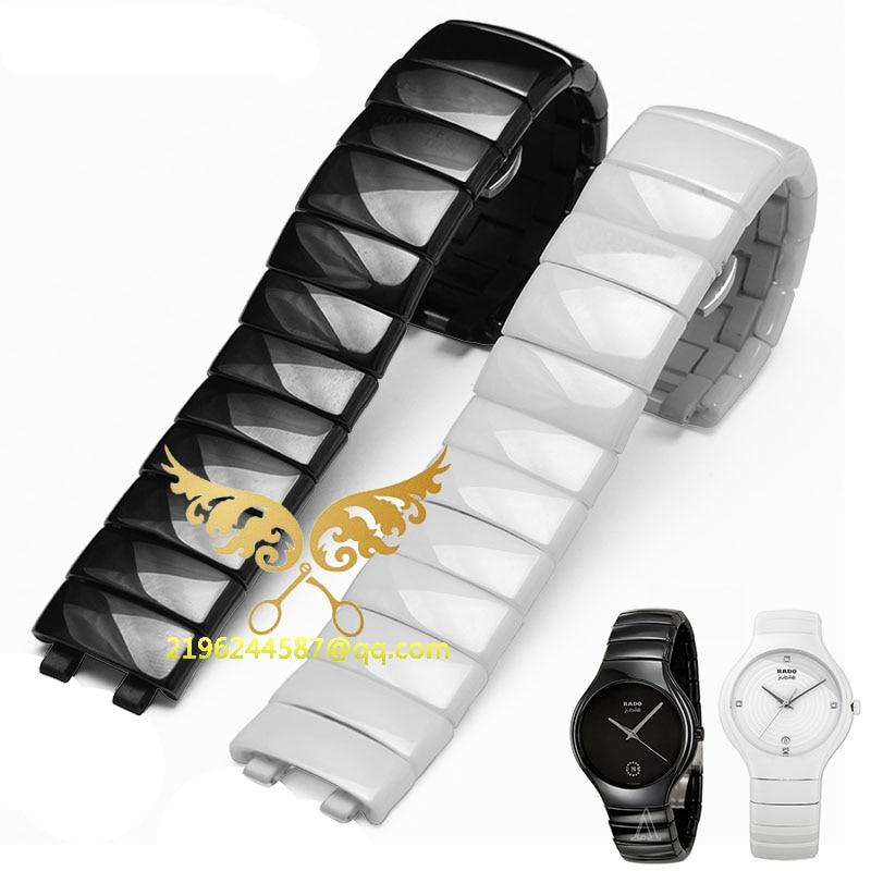 Ceramic band Men and women watch accessories Adapter LeiDaZhen series Black and white ceramic