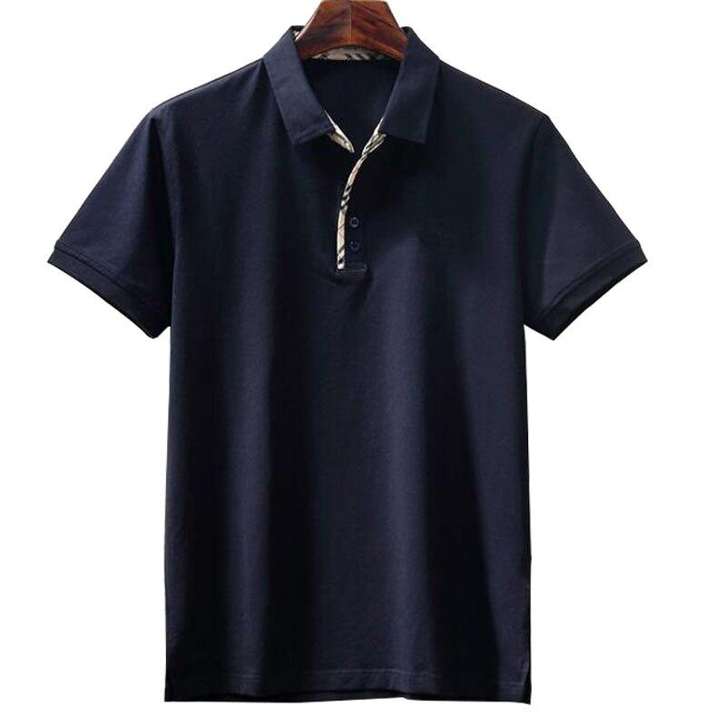 Marque vêtements nouveaux hommes Polo chemise hommes affaires décontracté solide homme polo chemise à manches courtes respirant polo