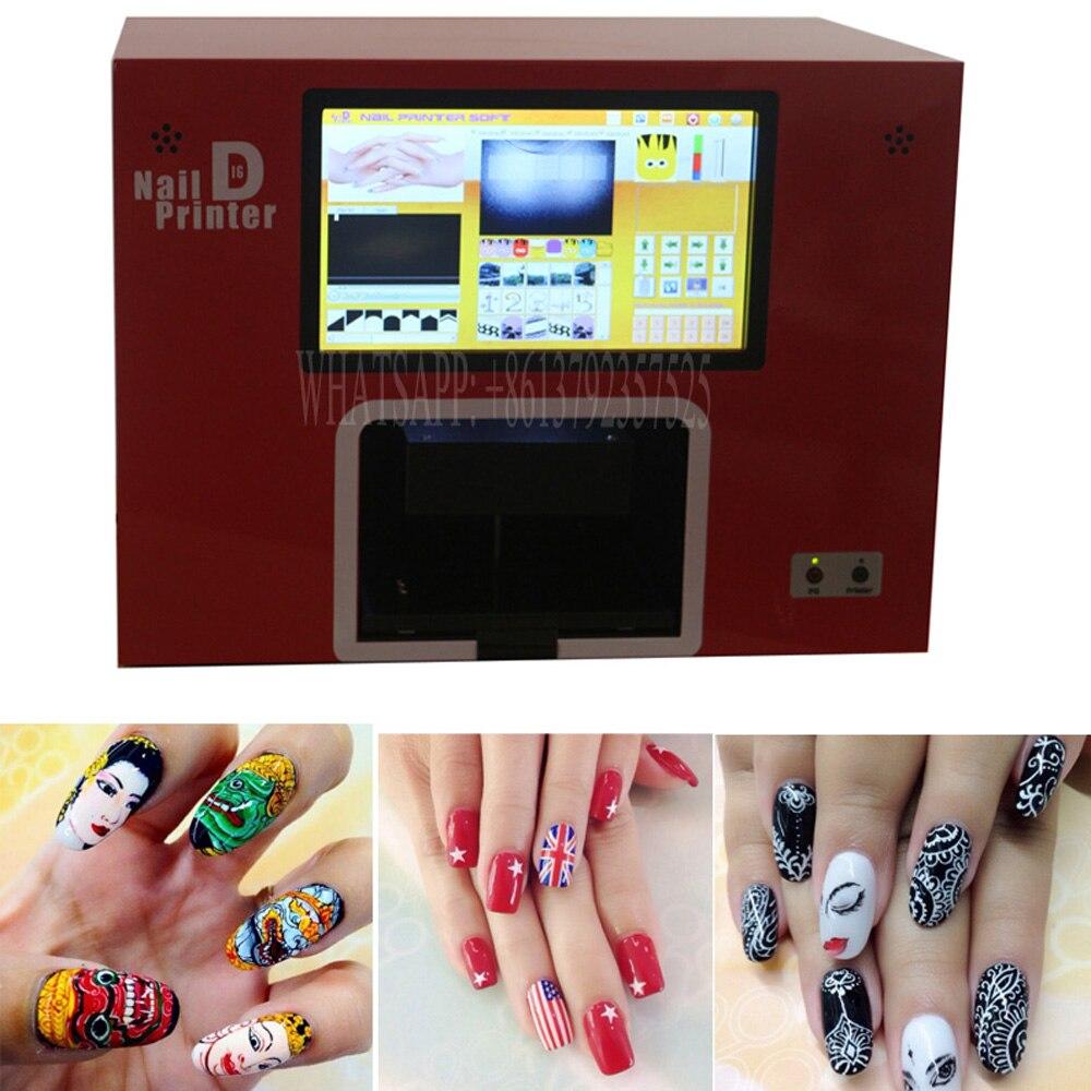 2018 Лидер продаж ногтей принтер построен с компьютером и экран ногтей печатная машина на 5 реальных ногти и ногти