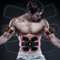 Muscle Trainer EMS Rechargeable Abdominal Stimulator Massager Electric Pulse Shape Fitness Body Slimming Belt Massager