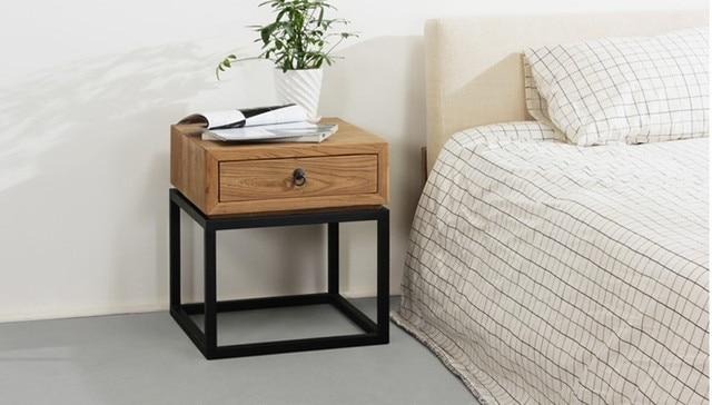 ikea eenvoudige amerikaanse land grade hout nachtkastje opbergrek europese retro sofa creatieve. Black Bedroom Furniture Sets. Home Design Ideas