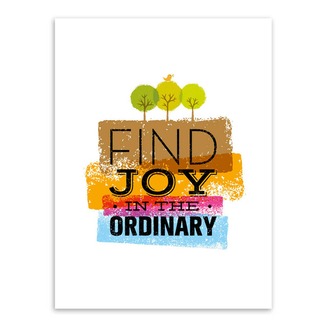 Modern Minimalist Colorful Life Inspirational Quotes Typography A4