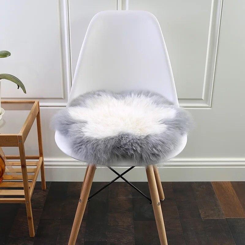 MUZZI 100% véritable peau de mouton chaise couverture siège Pad doux tapis fourrure poilue plaine moelleux tapis chambre vraie fourrure tapis