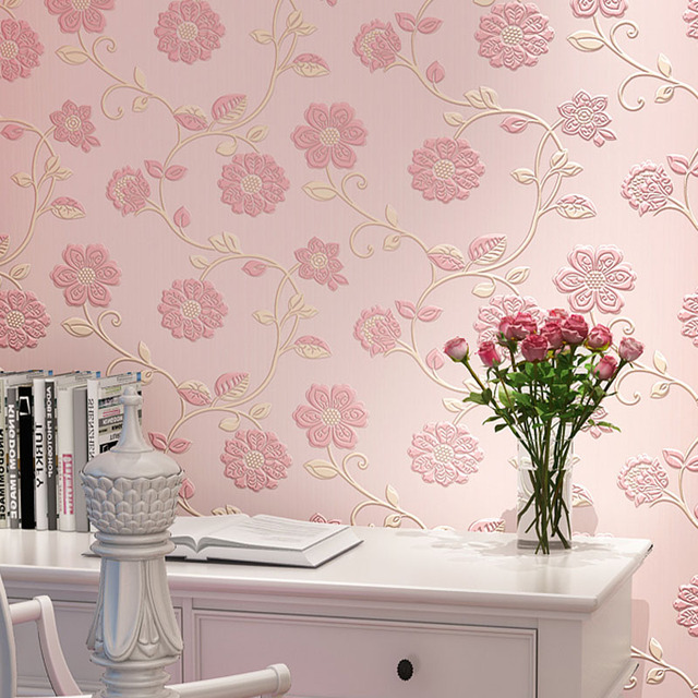 Pink Bedroom Wallpaper Designs Farmersagentartruiz Sun Flower Fl Design Non Woven Mightylinksfo