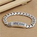 Ручной 925 Siilver крест браслет цепочка 195 мм стерлингового серебра человек браслет крест подарок ювелирных изделий человек ювелирные изделия