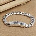 Handmade 925 Siilver Cross Chain Bracelet 195mm Sterling Silver Man Bracelet Cross Jewelry Gift Man Jewelry