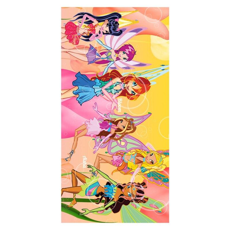Serviette De Bain Winx.12 89 30 De Reduction Winx Club Joli Dessin Anime Filles Imprimer Doux Bambou Microfibre Sechage Rapide Bain Serviette De Plage Pour La Natation