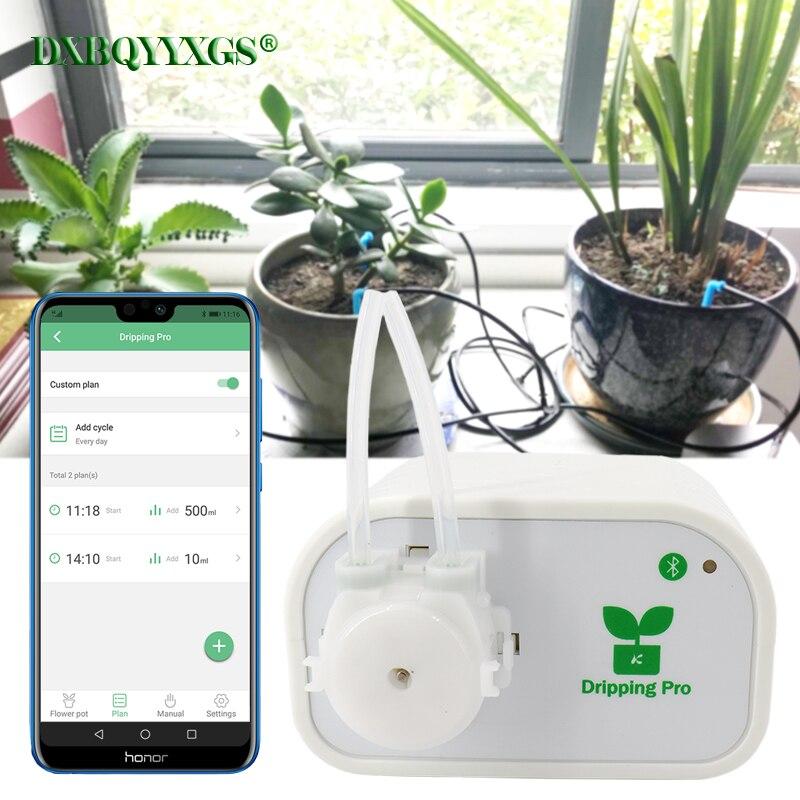 DXBQYYXGS Gouttes pro Mobile téléphone contrôle Jardin des plantes utomatic Irrigation Goutte À Goutte arrosage système Intelligent d'eau minuterie pompe