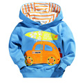 2016 new winter children's clothing cotton blue long-sleeved jacket children cartoon cars pattern sweater factory outlets