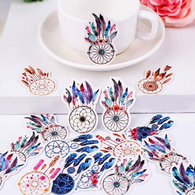 17 unids/pack lindas plumas Scrapbooking pegatinas DIY artesanía decoración diario álbumes de fotos decoración pegatina