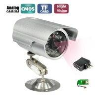 CCTV Bullet Outdoor Waterdichte DVR USB Camera 600TVL IR NightVision Beveiliging Micro SD/Tf-kaart Recorder Camera + Camera beugel