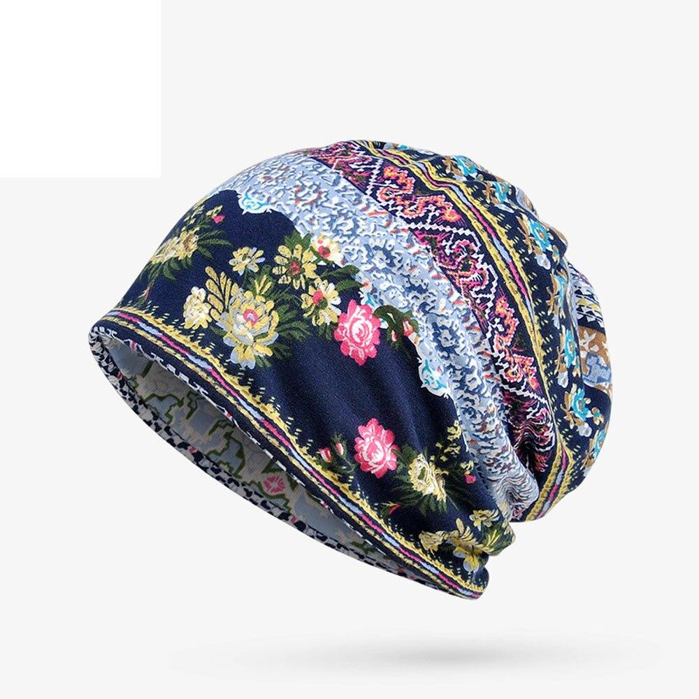 Unisex Print Hat Ruffle Cancer Hat Beanie Scarf Collar Turban Head Wrap Cap Fashionable Handmade Casual Cancer Chemo Hat #LR4