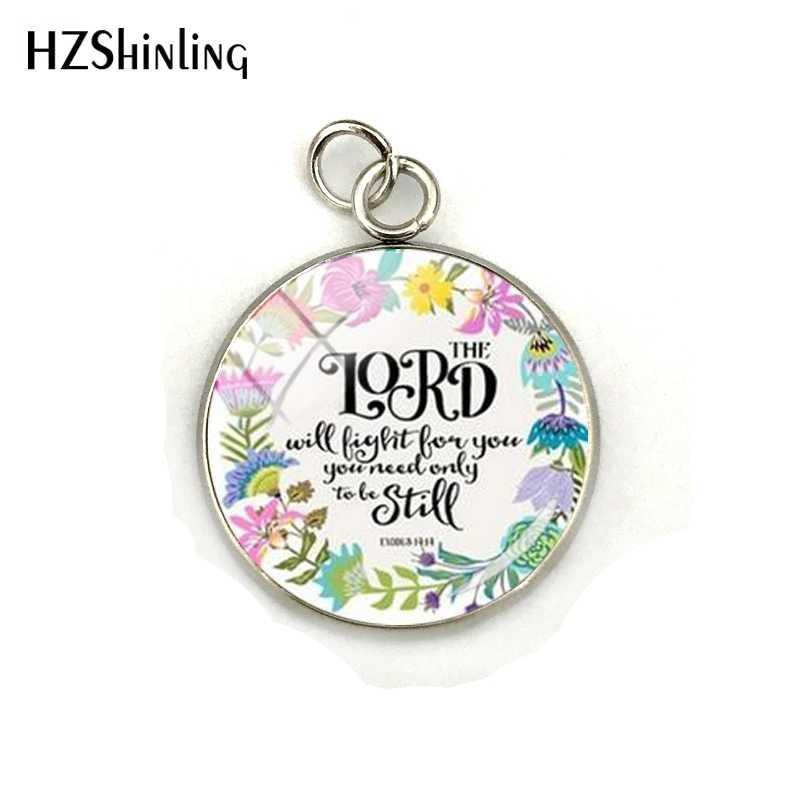 جديد وصول الكتاب المقدس آيات قلادة الفولاذ المقاوم للصدأ مطلي الزجاج كابوشون سحر للنساء المسيحي إقتباس مجوهرات اليدوية هدية