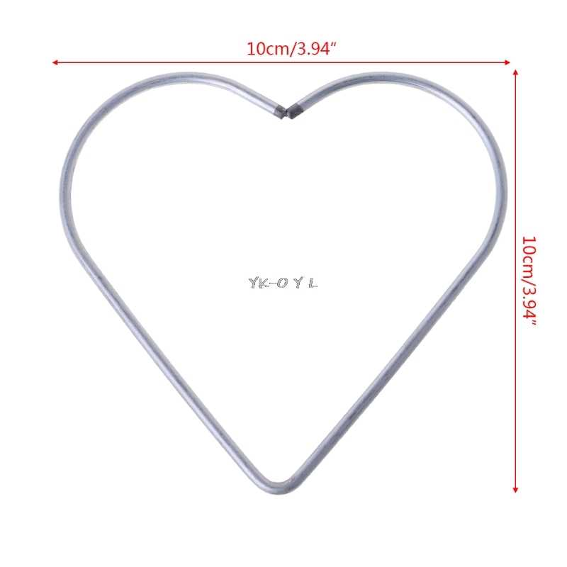 1PC ขนาดรูปหัวใจโลหะแหวนห่วงคู่มือ DIY Handmade หัตถกรรม Dream Catcher แขวนตกแต่ง DIY วัสดุ