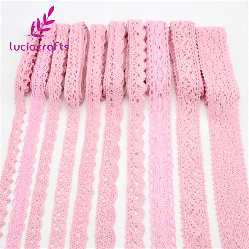 2 jardas/6 jardas multi tamanho cor-de-rosa bordado laço guarnição fitas diy vestuário headdress casamento que envolve materiais de tecido n0103