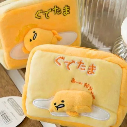 Candice guo! Super cute plush toy cartoon stereo gudetama lazy Egg coin bag small cosmetic bag birthday Christmas gift 1pc candice guo cute cartoon plush toy sushi gudetama lazy egg kawaii stuffed small doll creative birthday christmas gift 1pc