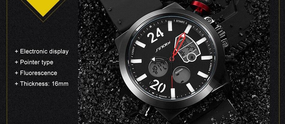 HTB1fBCZkYSYBuNjSspfq6AZCpXa4 SINOBI 2020 Men Wrist Watches LED Chronograph