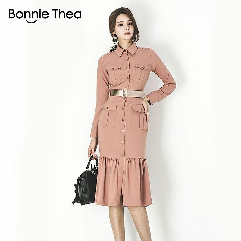 Kurze Thea Bonnie Frauen Weibliche Kleid Elegante B Bodycon Kleider Herbst edBroCx