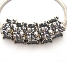 SSVWG270 5X 100% Authenticity S925 Sterling Silver Beads SilverBead Fit European Charms Bracelet diy jewelry Lampwork